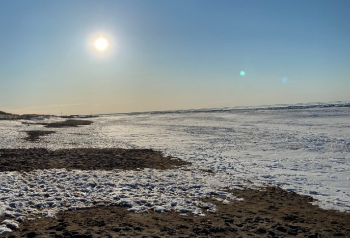 zamrzlý oceán